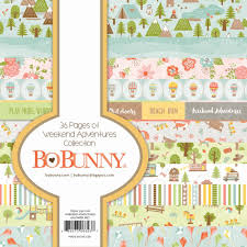 weekend adventures 6x6 paper pad by bo bunny for scrapbooks cards