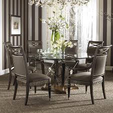 Glass Circular Dining Table Modern Dining Table Set Sneakergreet Chair Glass