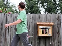 tiny library brings literature to the trail victoria advocate