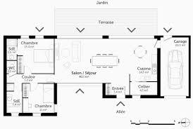 plan maison en l 4 chambres plan maison etage 4 chambres gratuit inspirant plan maison plain