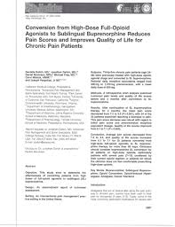 converting hi dose agonists to buprenorphine