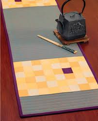 set the table 11 designer patterns for table runners that