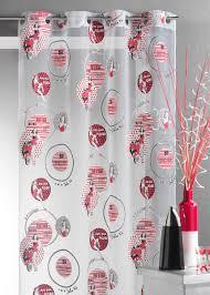rideau style montagne rideau esprit année 50 rouge homemaison vente en ligne voilages