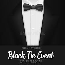 mens suits black friday realistic vector black suit black tie event invitation template