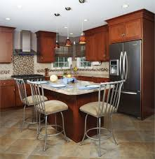 shaker kitchen island elegant shaker style kitchen featuring brown color wooden kitchen