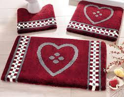 linge de lit style chalet montagne tapis de bain motif coeur 1350 g m2 becquet