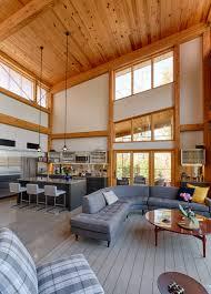 modern timber frame house hugh lofting timber framing