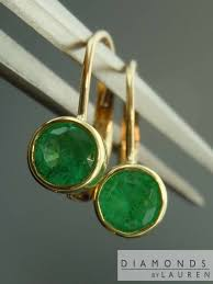emerald earrings 63ctw emerald earrings r7966 diamonds by ebay