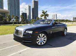 black rolls royce rolls royce dawn for rent in miami paramount luxury rentals