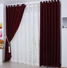Velvet Blackout Thermal Curtains Graceful And Elegant Burgundy Polyester Blackout And Thermal