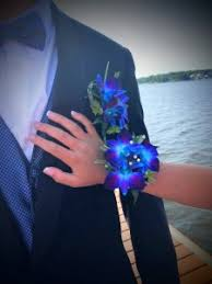 corsage and boutonniere for prom fancy blue corsage and boutonniere prom or wedding in colts neck