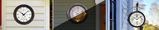 the 24 outdoor lighted atomic clock indoor outdoor clocks time browse products