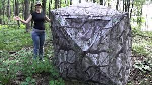 Tree Trunk Hunting Blind Hunting Blind Foldling Instructions Short Youtube