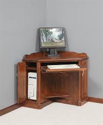Woodworking Plans Corner Computer Desk by Amish Corner Computer Armoire