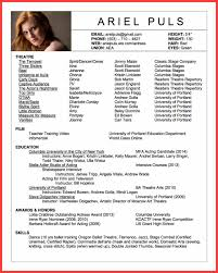 acting resume template acting resume template 2016 memo exle