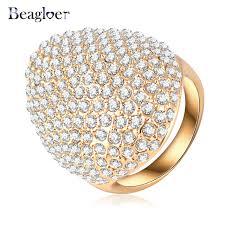 aliexpress buy beagloer new arrival ring gold beagloer custom rings for women gold color rhinestone