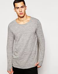 Sweater With Thumb Holes 2 X H Brothers 2xh Brothers Long Sleeve T Shirt With Thumbholes In
