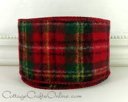 christmas wired ribbon christmas wired ribbon 2 1 2 wide tartan plaid and