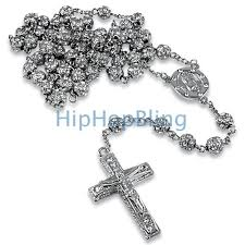 rosary chain necklace images Platinum style totally iced out rosary chain hip hop rosary gif