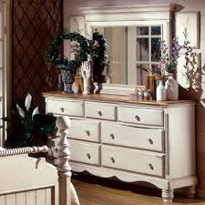 Ottawa Bedroom Set With Mirror Wilshire Wood Dresser In Antique White Humble Abode