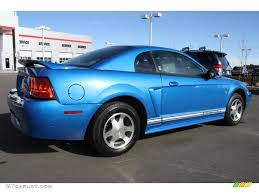 2000 blue mustang 2000 bright atlantic blue metallic ford mustang v6 coupe 43338521