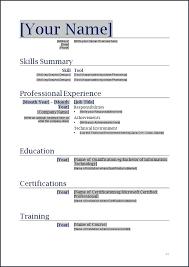 resume format for in word curriculum vitae format word millbayventures