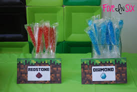 minecraft party supplies minecraft party decoration ideas and downloadable printables five