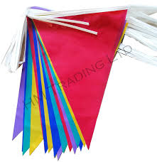 Pretty Bunting Flags 36 Flags 10 Metre Multi Coloured Pvc Plastic Bunting Banner