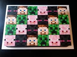 minecraft cupcakes square minecraft cupcakes edible painted cupcake topp flickr