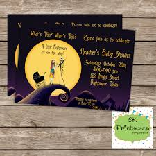 nightmare before christmas baby shower invitations free