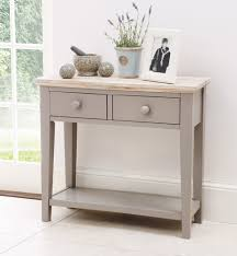 Blue Entryway Table by Narrow Console Table With Drawers Arlene Designs