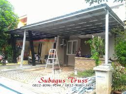 pemasangan kanopi baja ringan bagus murah atap spandek murah di