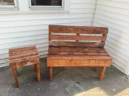 Patio Furniture Made Out Of Wooden Pallets by Pallet Bench U0026 Table Pallets Garden Pallets And Pallet Bench