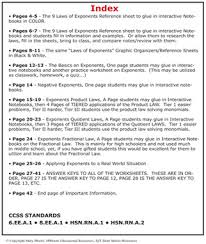 Of Exponents Worksheet Of Exponents Tiered Worksheets For Notebooks More