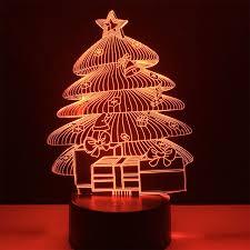 creative christmas tree lights night light 3d light creative touch light usb charging gift