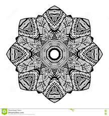 mandala design hand drawn beautiful ornament coloring page for