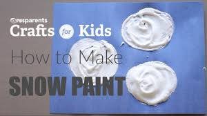 how to make snow paint pbs parents crafts for kids youtube