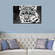 online get cheap white snow leopard aliexpress com alibaba group canvas print modern animals snow leopards painting canvas wall art decorative picture home decoration for living