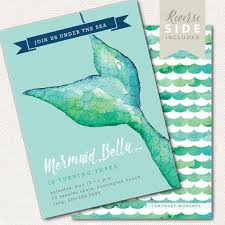 mermaid invitation birthday mermaid pool party invite under the