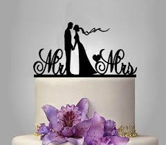 acrylic cake toppers cake toppers silhouette and groom mr mrs wedding acrylic
