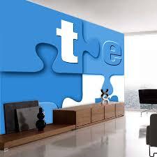 shinehome team letter blocks wallpapers 3d kids room wallpaper for