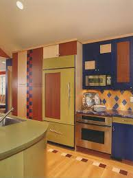 kitchen cabinet pulls for a colorful kitchen idea with a farmhouse