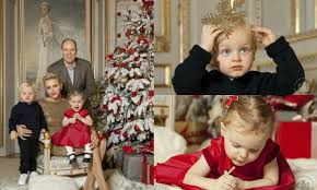 princess charlene and prince albert release christmas card and