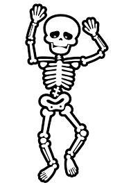 cute skeleton coloring pages coloringstar