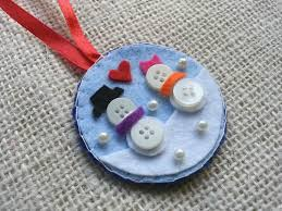 tree ornament button snowman christmas crafts craftbits com