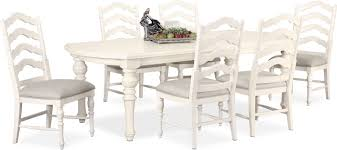 White Dining Table And Chairs Charleston Rectangular Dining Table And 6 Side Chairs White