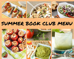 food clubs summer book club menu book club menu book clubs and menu