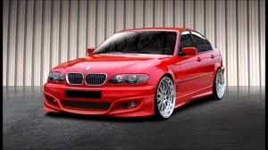 red bmw e46 bmw 3 series e46 sedan tuning body kit youtube