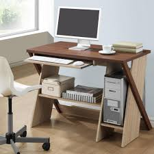 baxton studio rhombus contemporary white finished wood desk 28862
