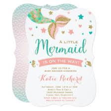 mermaid baby shower invitations mermaid baby shower invitations announcements zazzle